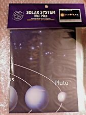"""SOLAR SYSTEM Wall Map, 40"""" x 28"""" Poster Size - Home, School or Office"""