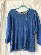 habitat clothes to live in sweater tunic top blue size med
