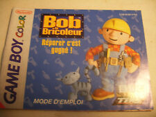 Retrogaming NINTENDO GBA Game Boy COLOR Notice BOB le Bricoleur instructions