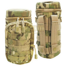 MULTICAM Molle Hydration Pouch Water Bottle Carrier Storage Holder Utility Bag