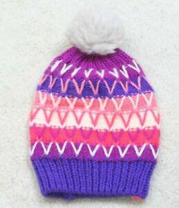 Winter Beanie Hat Skull Cap One Size Fits All Zeroxposur Purple Pink White Woman