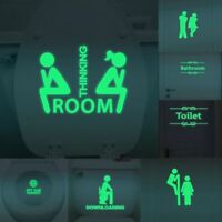 Luminous Removable WC Bathroom Door Toilet Seat Decals Wall Sticker Home Decor V