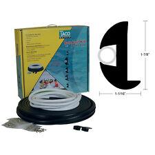 "TACO 50FT Flexible Flex Vinyl Rub Rail Kit Black with White Insert 1-7/8""x1-1/16"