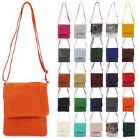 Womens Ladies Vera Pelle Leather Crossbody Shoulder Bag Handbag Made in Italy