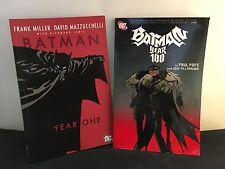 Batman: Year One / Year 100 - 2 Graphic Novels Comics Set