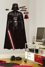 DARTH VADER Giant WALL DECALS Star Wars Movie Stickers Kids Room Decorations