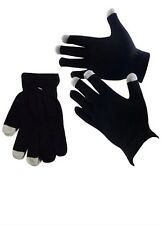 Touchscreen Thermal Gloves iTech Black iPad Phone Unisex Warm Winter Touch