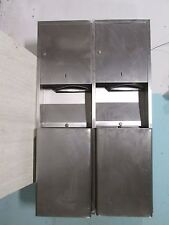 """Lot Of 2 """"McKinney Parker"""" Hd Commercial Ss In-Wall Paper Towel/Trash Cabinet"""