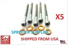 Sprinter Injector Screw Retainer Bolt Washer Kit Seal O Ring Set Mercedes 5 Cyl