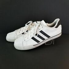 ADIDAS NEO Classic White 3 Stripe Mens 12 Euro 46 ~ Great Used Condition