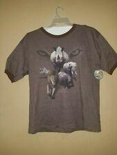 Vtg Busch Gardens Sea World Lion Rhino Zebra Conservation T Shirt~Sz L