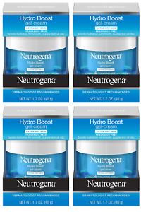 Neutrogena Hydro Boost Gel Cream, Dry Skin, Fragrance Free, 1.7 oz (4 Pack)