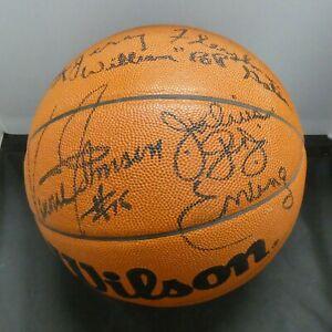 1996 NYC HOF Class Julius Dr. J Erving Pop Gates etc Signed Ball Full JSA Letter