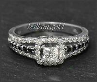 Diamant Brillant Ring mit 1,20ct aus 585 Gold, Weißgold, Damen Cocktailring, Neu