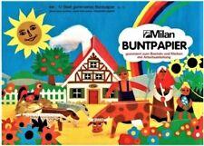 Glanzpapier Buntpapier 3-er-Set Glanzpapierheft 27,5x31,5cm 12 Blatt gummiert