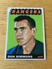 Topps Hockey 1965-66 Don Simmons New York Rangers  card # 88