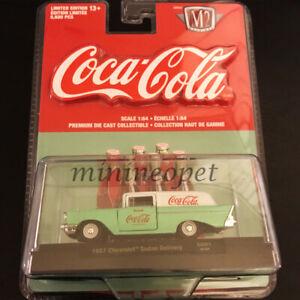 M2 52500 GG01 COCA COLA COKE 1957 CHEVROLET SEDAN DELIVERY 1/64 GREEN WHITE