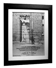OTGER DICE+Garden Of Pleasure+POSTER+AD+ORIGINAL 1977+FRAMED+EXPRESS GLOBAL SHIP