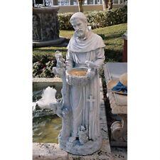 """Nature's Nurturer St. Francis 37"""" Design Toscano Exclusive Faux Stone Sculpture"""