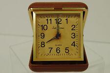 Vintage Seth Thomas Travel Alarm Clock Non-working Parts Only Brown Case