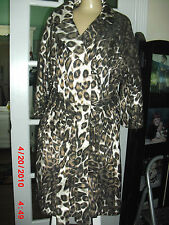 VERTIGO SPARKLES CHEETAH LONG SLEEVE JACKET 60% POLYESTER 40%COTTON SIZE  XL