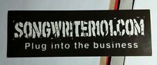 SONGWRITER101 COM SONGWRITER 101 SONG WRITER PLUG INTO THE BUSINESS MUSI STICKER