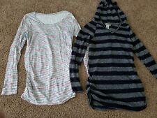 Long Sleeve Maternity Shirts Size Medium,  Striped Maternity Tops, Fall Clothes