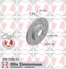 Disque de frein arriere ZIMMERMANN PERCE 230.2356.52  FIAT TIPO 160 1.6  (160.AE
