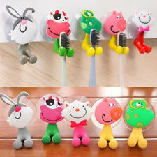 1X3D Cartoon Animal Cute Sucker Toothbrush Wall Holder Suction Cup Bathroom Baby
