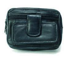 NEW Leather Mens Belt/Wrist BAG WALLET Camera Handy Pockets by Lorenz - 1483