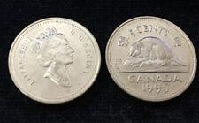 CANADA 5 CENT BEAVER QEII 1995 COIN UNC
