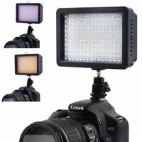 160 LED DV Video Light Shoe Lamp + Filters for CANON NIKON Camera Camcorder