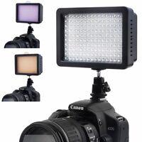 160 LED DV Video Light Shoe Lamp + Filters for CANON NIKON Camera Camcorder