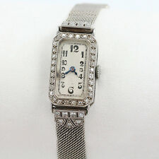 Antique J Lafond Inc. Platinum Art Deco Ladies .65 TCW Diamond Wristwatch