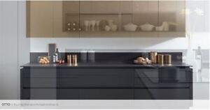 Otto Brushed Bronze Laminate Handleless Kitchen units & doors Rigid Built