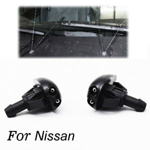 x2 Front Windscreen Washer Nozzle For Nissan Navara D22 D40 Pickup Silvia S14 15