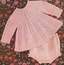 "Lacy Baby Angel Top & Knickers 17"" - 20""  ~ DK Knitting Pattern"