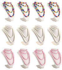 50s Pop Beads Variety Party Pack - 4 Bags Each Rainbow Pink & White *10 +2 Free*