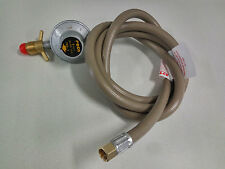 "1/4"" OzMade Quality Adjustable Regulator 1.8m LPG Gas Hose of Cooktop Wok Burner"