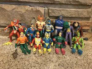 Kenner DC 1984-1986 Lot Of 13 Action Figures With Accessories