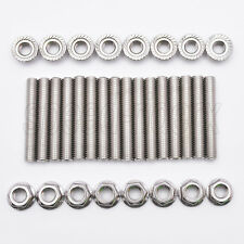 Ford 4.6 & 5.4 Liter V8 stainless exhaust manifold stud kit Studs for 2 manifold
