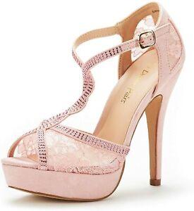 DREAM PAIRS Women's Sexy Open Toe Ankle Strap High Heel Stilettos Dress Sandals