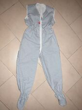 Sommer Schlafsack mit Beinen Overall 122/128 NEU Querstreifen blau