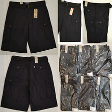 Levis Mens Snap Cargo Shorts with a Belt Black Sizes: 42, 44 #135810010
