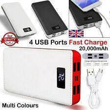 20000mAh Power Bank de 4 USB Cargador de paquete de batería de respaldo Led Lcd Para Teléfono Móvil