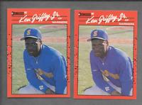1990 Donruss #365 Ken Griffey Jr  Error Card No Period After Inc Mariners Card