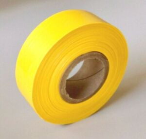 """PVC Flagging Tape, 150-Foot Roll, 1-3/16"""" Wide, BrightYellow"""