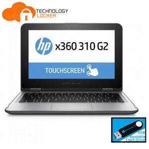 """HP x360 310 G2 11.6"""" 2-In-1 Touch Pentium N3700 @1.60GHz 4GB 128GB Win10 Laptop"""