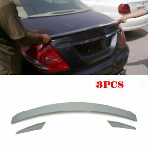 3PCS Rear Trunk Spoiler Wing For Mercedes Benz CL-Class W216 CL550 CL63AMG