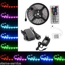1m-30m 5050 SMD 30/60 LED RGB Leiste Strip Streifen Band Fernbedienung Netzteil